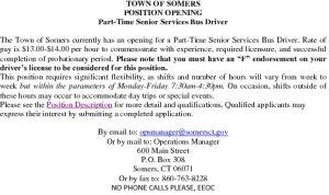 Icon of Position Announcment For Part-Time Senior Bus Driver