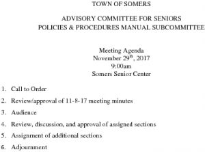 Icon of 20171129 Policies And Procedures Manual Subcommittee Agenda