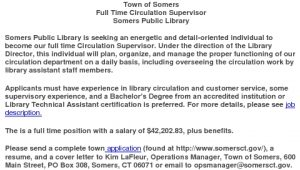 Icon of Library Full Time Position Summary