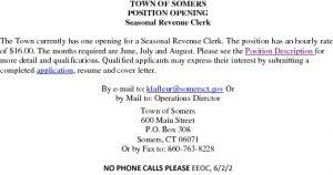 Icon of Seasonal Revenue Clerk Summary