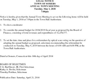 Icon of LEGAL NOTICE FOR ANNUAL TOWN MTG 2018
