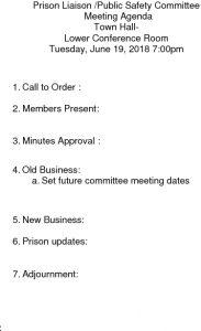 Icon of 20180619 Prison Liaison Agenda