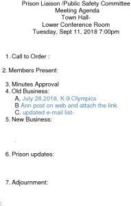 Icon of 20180911 Prison Liaison Agenda