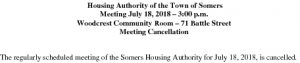 Icon of 20180718 Housing Auth Mtg Cancellation