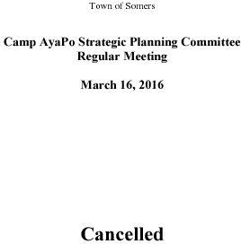 Icon of 20160316 Camp Ayapo Planning Mtg Cancellation