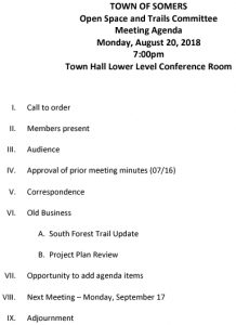 Icon of 20180820 Open Space And Trails Committe Meeting Agenda