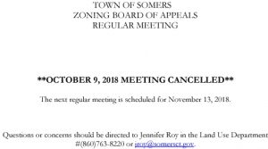 Icon of 20181009 ZBA Meeting Cancelled