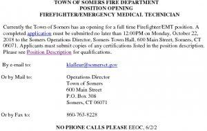 Icon of PT Firefigher EMT Job Summary