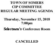 Icon of 20181115 CIP Agenda CANCELLED