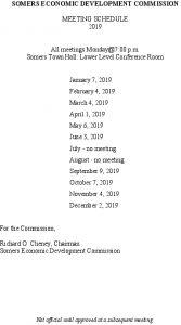 Icon of 2019 EDC Mtg Schedule