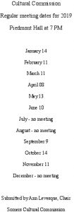 Icon of 2019 Cultural Comm Mtg Schedule