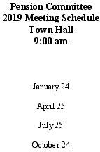 Icon of 2019 Pension Comm Mtg Schedule