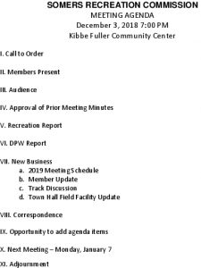 Icon of Rec Commission Agenda 20181203