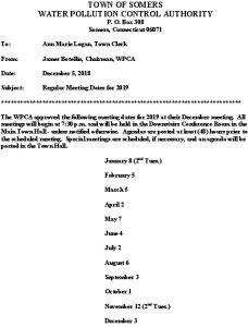 Icon of 2019 WPCA Meeting Schedule