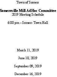 Icon of 2019 Somersville Mill AdHoc Mtg Schedule