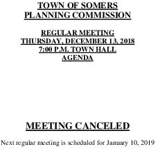 Icon of 20181213 Planning Meeting Canceled