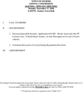 Icon of 20181217 Zoning Commission Agenda - Special Meeting