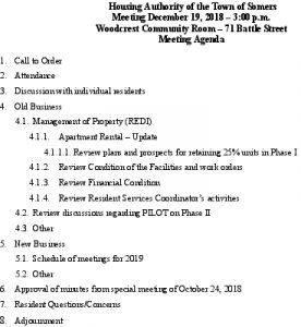 Icon of 20181219 Housing Auth Agenda