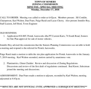 Icon of 20181217 Zoning Commission Special Meeting Minutes