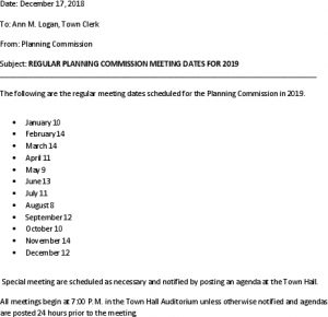 Icon of 2019 Planning Comm Mtg Schedule