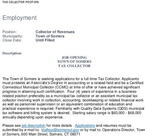 Icon of Tax Collector Position Opening