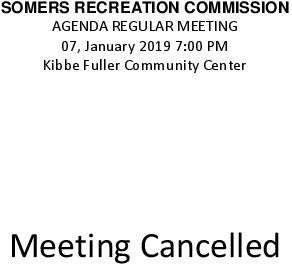 Icon of 20190107 Rec Commission Meeting Cancelled