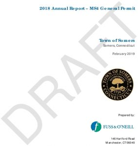 Icon of Draft 2018 Somers MS4 Annual Report