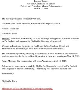 Icon of 20190327 Policies And Procedures Manual Subcommittee Minutes